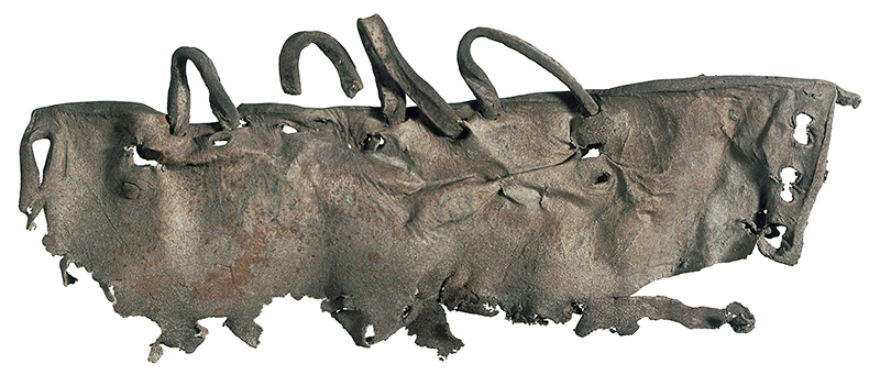 Fragment seines Lederschuhs - Fotocredit: © Archäologischer Dienst des Kantons Bern