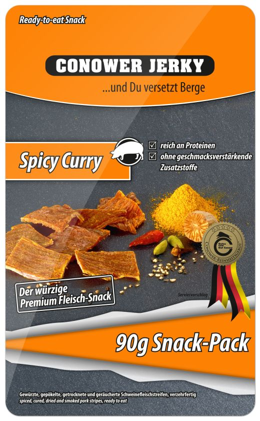 Conower Jerky Spicy Curry - Fotocredit: Gut Conow Landprodukte GmbH & Co. KG
