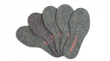 Awardgewinner 2014: Filzeinlagen für Schuhe aus recycelten Wollresten - Fotocredit: Woolpower