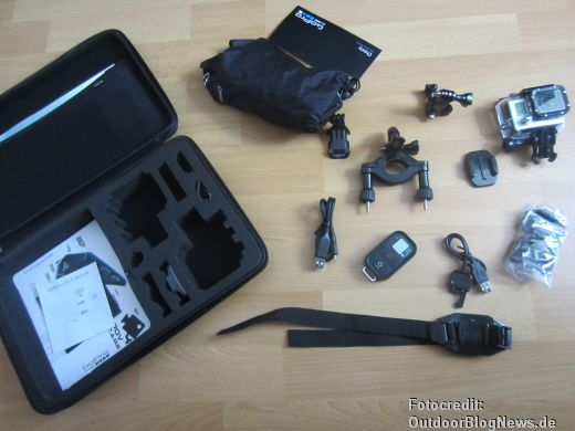 GoPro HERO3 Black Edition Test mit dem Sortiment im POV Case