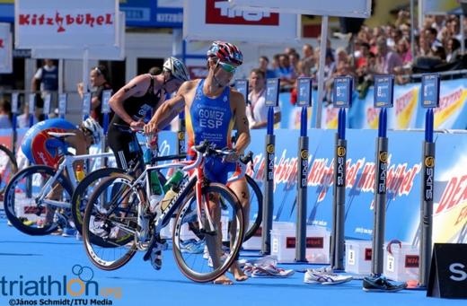 Javier Gomez beim ITU Rennen in Kitzbühel. Foto: (c) János Schmidt