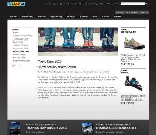 Mojito Days 2015 präsentiert von Transa.ch - Credit: Homepage