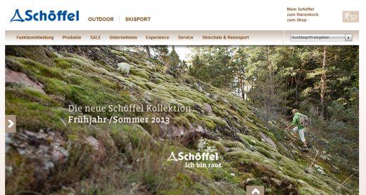 Homepage von Schöffel