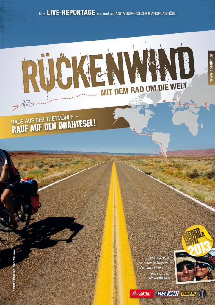 Rückenwind - Mit dem Rad um die Welt von Anita Burgholzer & Andreas Hübl