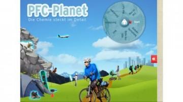 """Startbildschirm der App """"PFC-Planet"""" des Umweltbundesamts Quelle: UBA"""